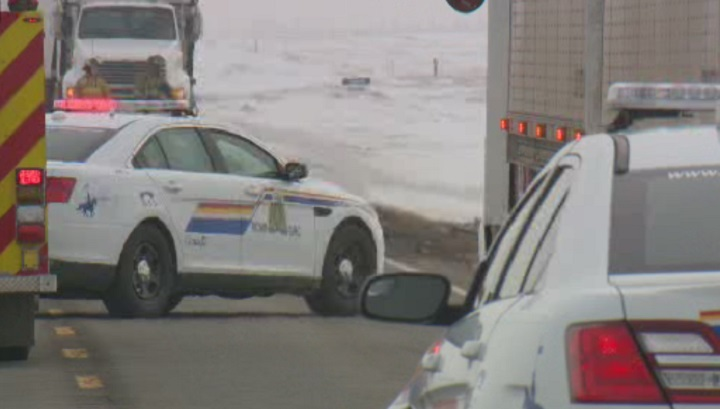 One man has died after a head-on collision east of Calgary Monday.