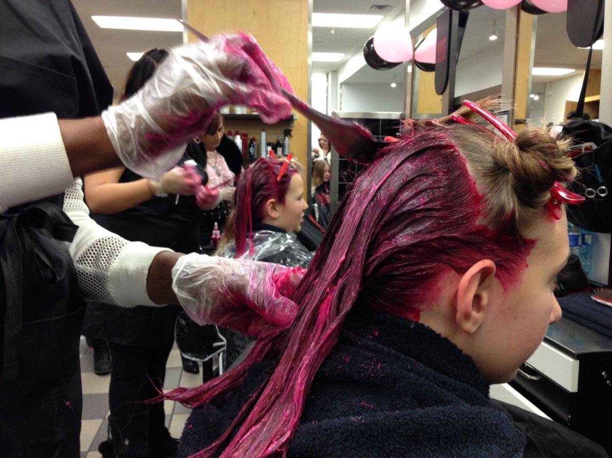 The 15th annual Hair Massacure starts in Edmonton, Monday, Jan. 23, 2017.