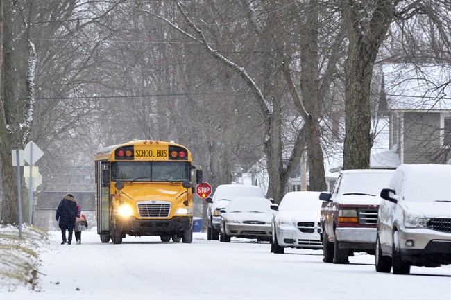 In previous winters, inclement weather could occasionally lead to the cancellation of school buses. Schools often remained open for parents and guardians who could drop their kids off and pick them up.