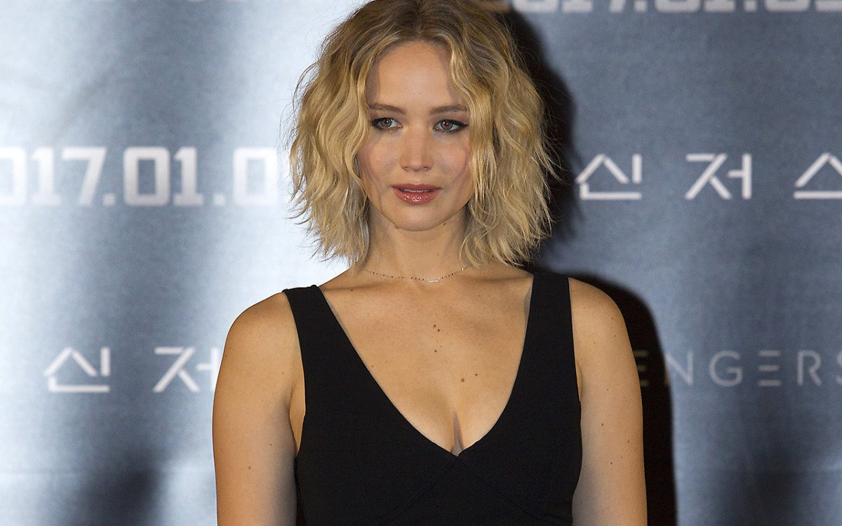 Jennifer Lawrence attends the press conference for 'Passengers' at Times square CGV theater in Seoul; South Korea.