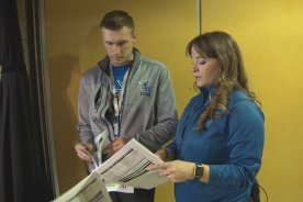 Play video: Behind the scenes with Manitoba Moose promotion team