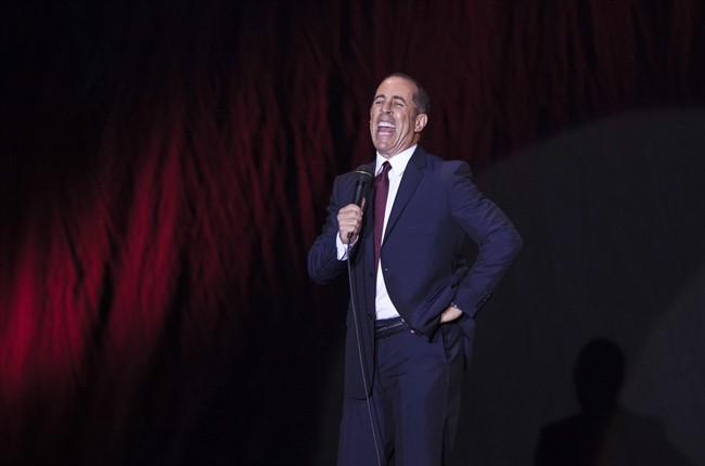 FILE - In this Dec. 19, 2015, file photo, Jerry Seinfeld performs at Menora Stadium in Tel Aviv, Israel.