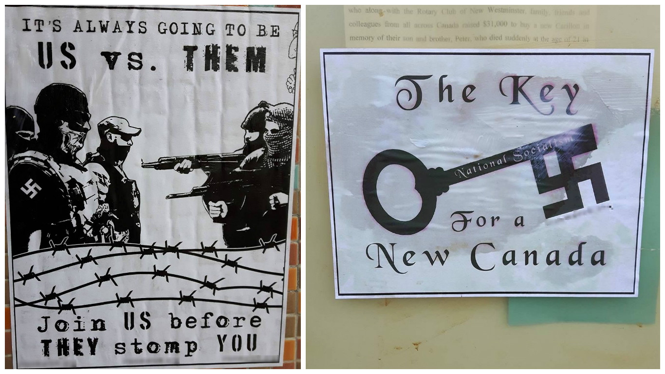 neo nazi flyers new westminster