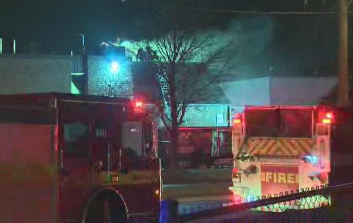 Firefighters respond to a fire in Etobicoke on Jan. 26, 2017.