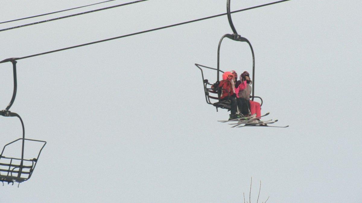 A file photo of people on a chairlift at Edmonton's Sunridge Ski Area.