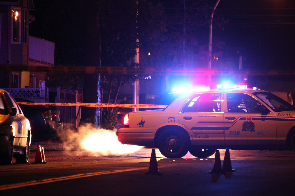Surrey RCMP rushed to the scene of another shooting in the city Thursday night.
