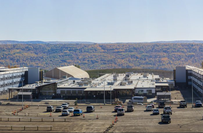 Site C's 1,600-room Two Rivers worker accommodation facility, which currently houses around 700 of the project's over 1,800 workers.