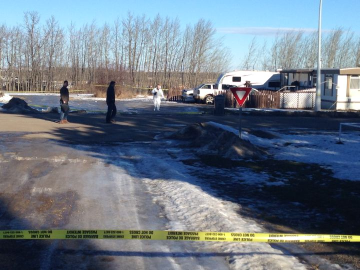 The RCMP's Major Crimes Unit investigates a man's death in Warburg, Alta. Monday, Jan. 30, 2017.