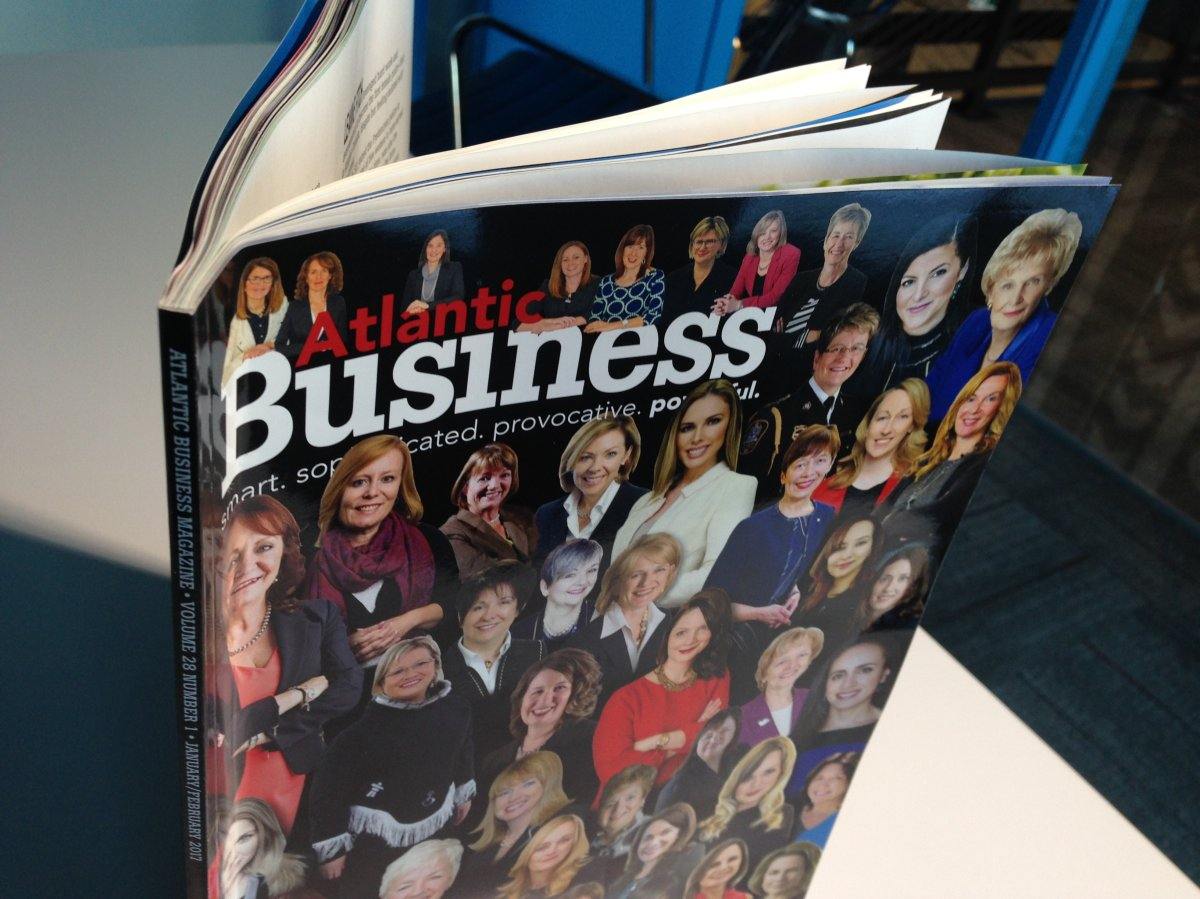 The January/February issue of Atlantic Business Magazine which featured female entrepreneurs and leaders for the first time in its history.