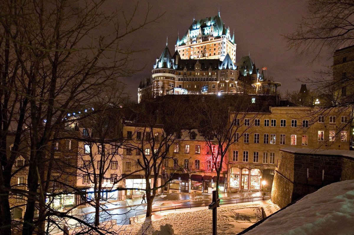 The Chateau Frontenac overlooking old historic Quebec City Sunday, Dec. 10, 2006.