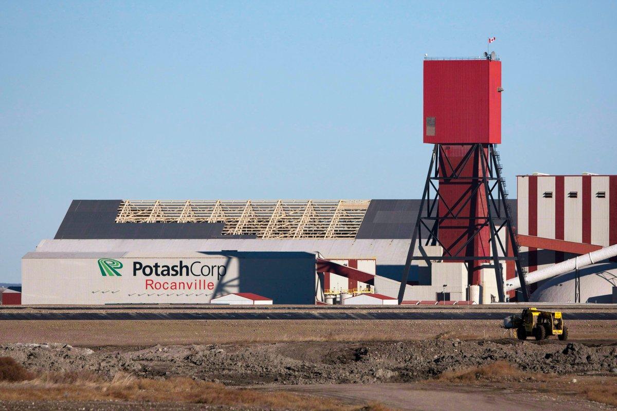 The exterior of the Potash Corp. Rocanville potash plant on on Nov. 3, 2010 near Rocanville, Sask. Potash Corp.