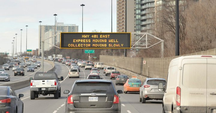Don Valley Parkway closed all weekend for maintenance – Toronto