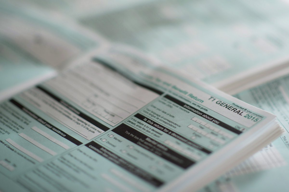 The T1 General tax form for 2015 is shown in this recent photo. Tax season is upon us once again and the Canada Revenue Agency has implemented several new measures in an effort to help streamline the filing of income tax returns.