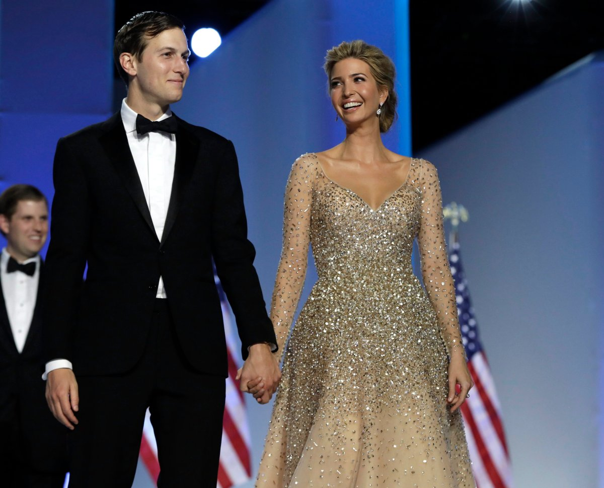 Ivanka Trump and her husband Jared Kushner attend the Freedom Ball, Friday, Jan. 20, 2017, in Washington.