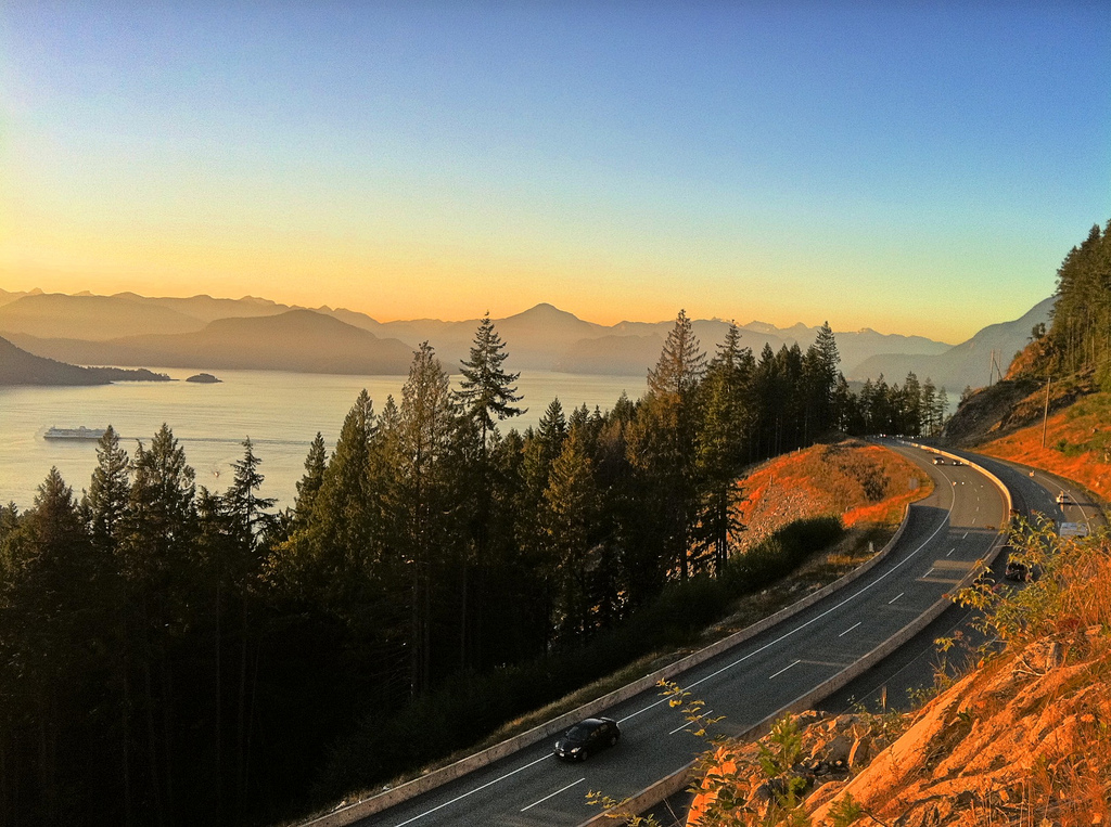 The Sea-to-Sky Highway.