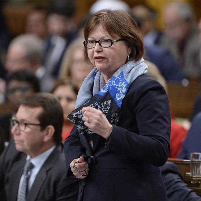 Public Services and Procurement Minister Judy Foote answers a question during Question Period in the House of Commons in Ottawa, on, Jan.31, 2017.