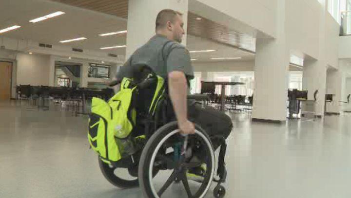 Alex McEwan was paralyzed in a tobogganing accident in Jan. 2016.