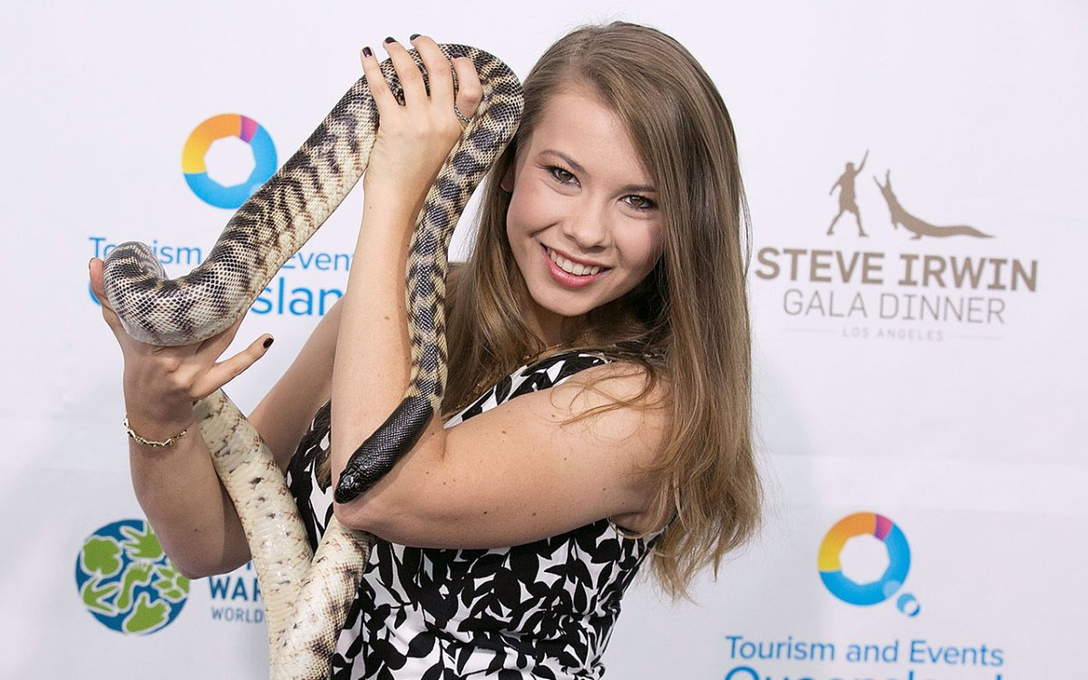 Bindi Irwin arrives for the Steve Irwin Gala Dinner at JW Marriott Los Angeles at L.A. LIVE on May 21, 2016 in Los Angeles, California.