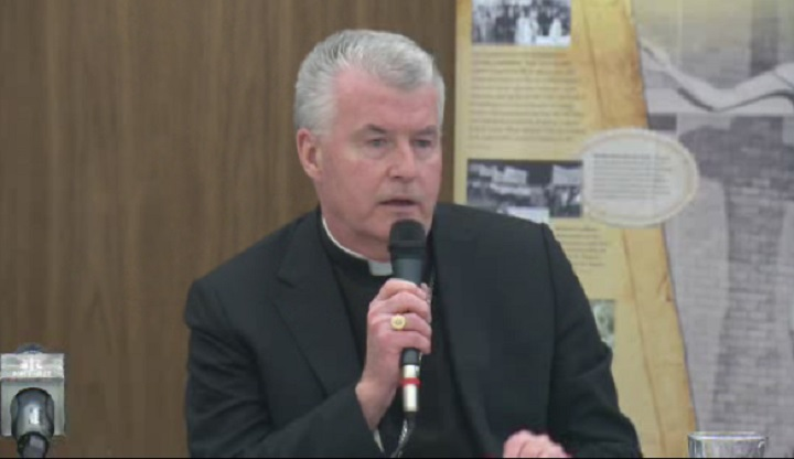 Calgary's new bishop, William T. McGrattan, answered questions Monday afternoon.