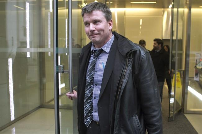 High school teacher Timothy C. Sullivan leaves a disciplinary hearing in Toronto, on Tuesday, February 21, 2017.