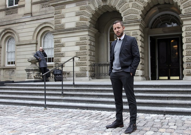 Vice Media journalist Ben Makuch is seen outside the Ontario Court of Appeal on Monday, Feb. 6, 2017.