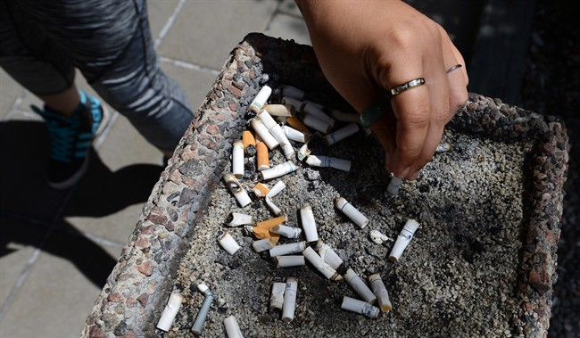 A new report suggests fewer Canadians are smoking tobacco.