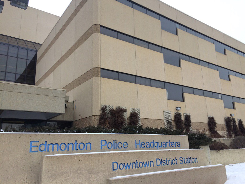 The Edmonton Police Service headquarters in downtown Edmonton. February 9, 2017.