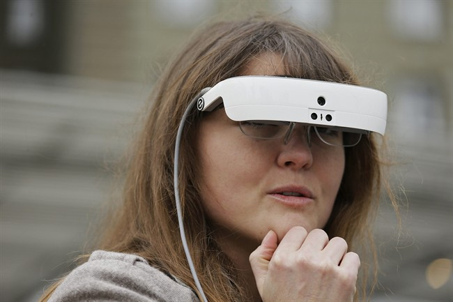 FILE - Wearable tech is increasingly being used to help those with disabilities, such as the eSight wearable that can help legally blind people see, pictured here.