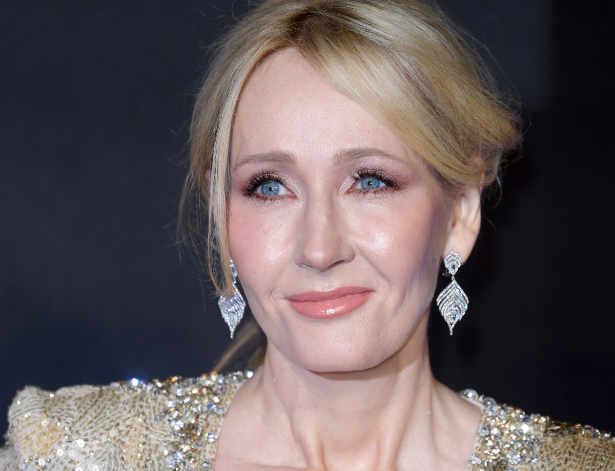 "J. K. Rowling attends the European premiere of ""Fantastic Beasts And Where To Find Them"" at Odeon Leicester Square on November 15, 2016 in London, England."