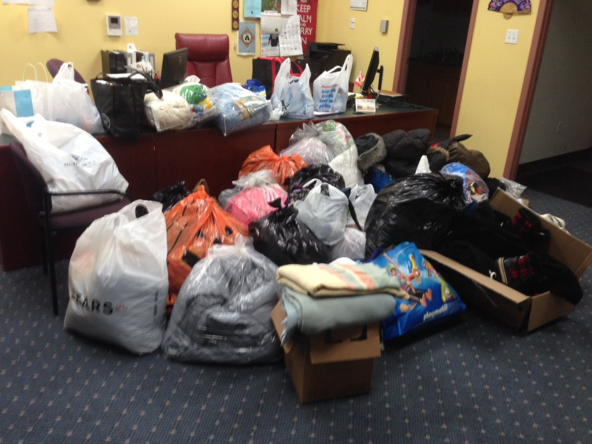 Donations poured in for refugees who crossed the Emerson border.