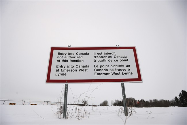 According to fire officials, no refugees crossed the border into Emerson, MB on Sunday.
