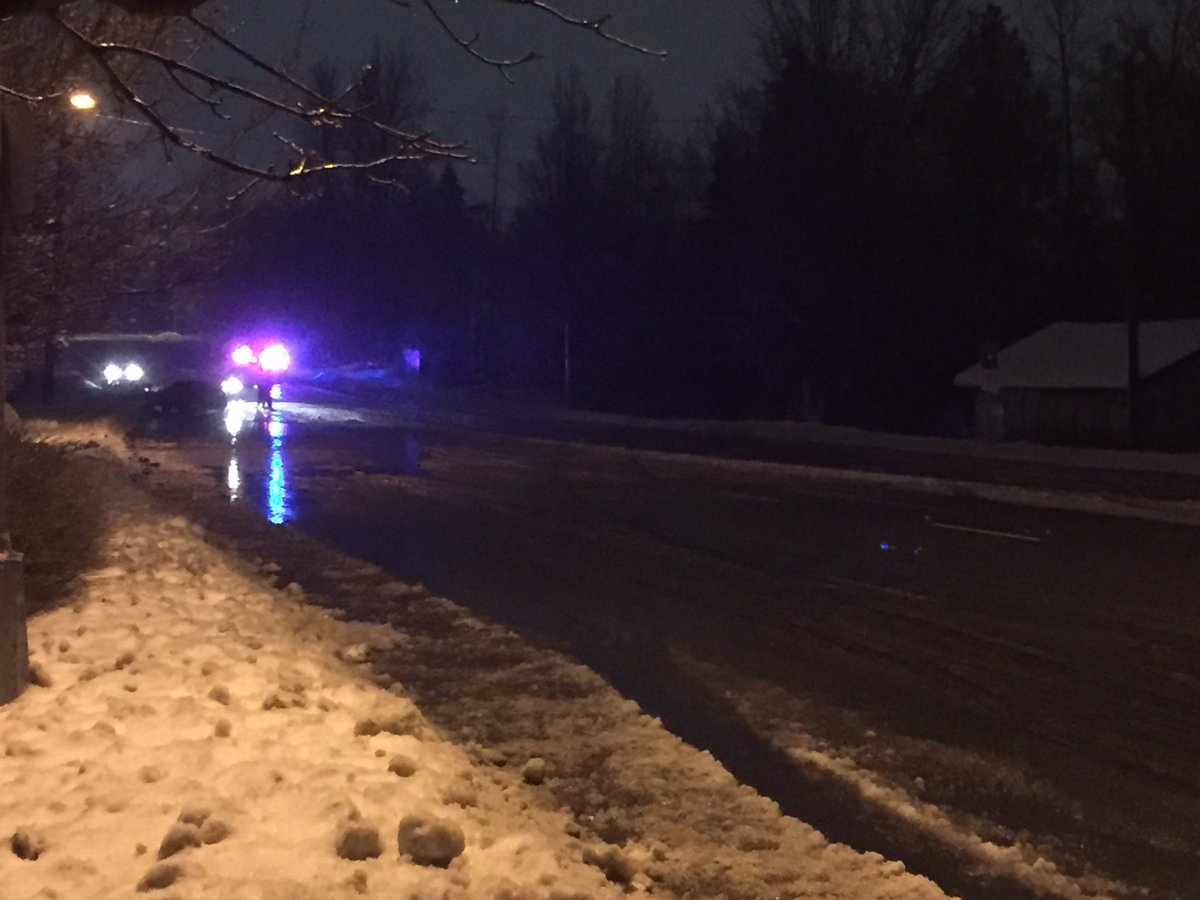 The scene of a fatal crash in Langley early Thursday morning.