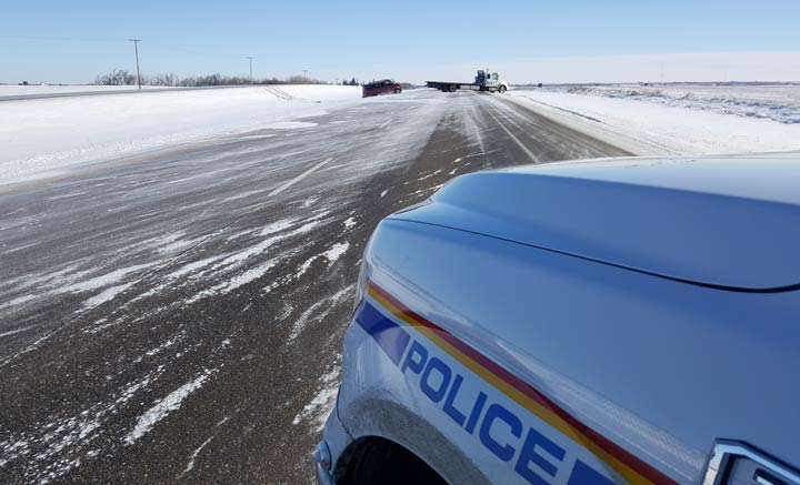 RCMP responded to a rollover west of Maidstone, Sask. Saturday and are warning all drivers to be cautious due to adverse road conditions.