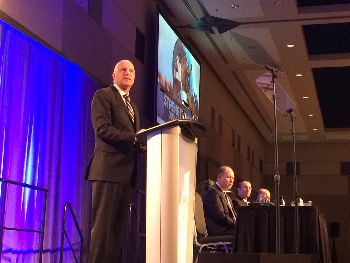 Mayor Matt Brown delivers a state of the city address on Jan. 31, 2017. The London mayor announced he will not be seeking re-election.