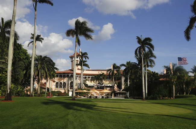 Mar-a-Lago is seen from the media van window in Palm Beach, Fla., Nov. 27, 2016.