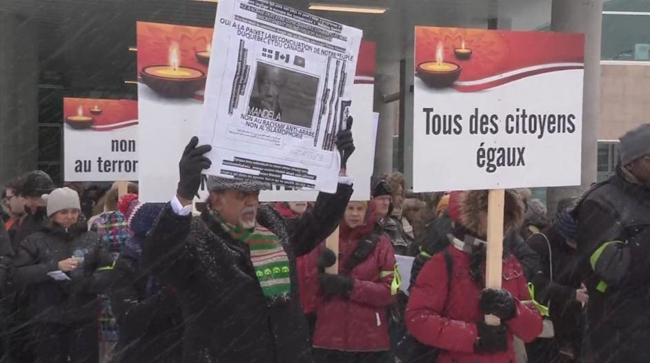 A march will be held Sunday in Quebec City to remember the victims of last week's deadly mosque attack, Sunday, February 5, 2017.