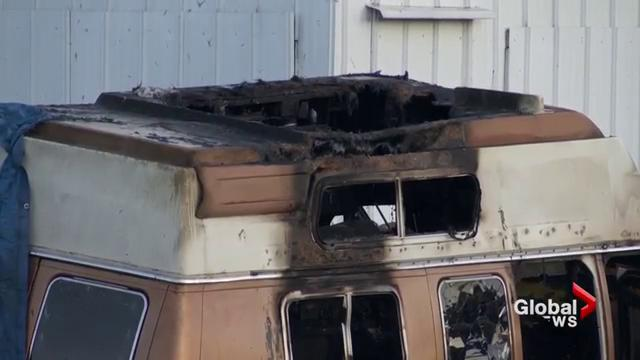 Firefighters responded to a camper van fire in Surrey.