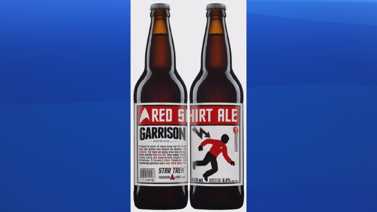 An artists rendering of Garrison Brewing's new Star Trek-themed craft beer.