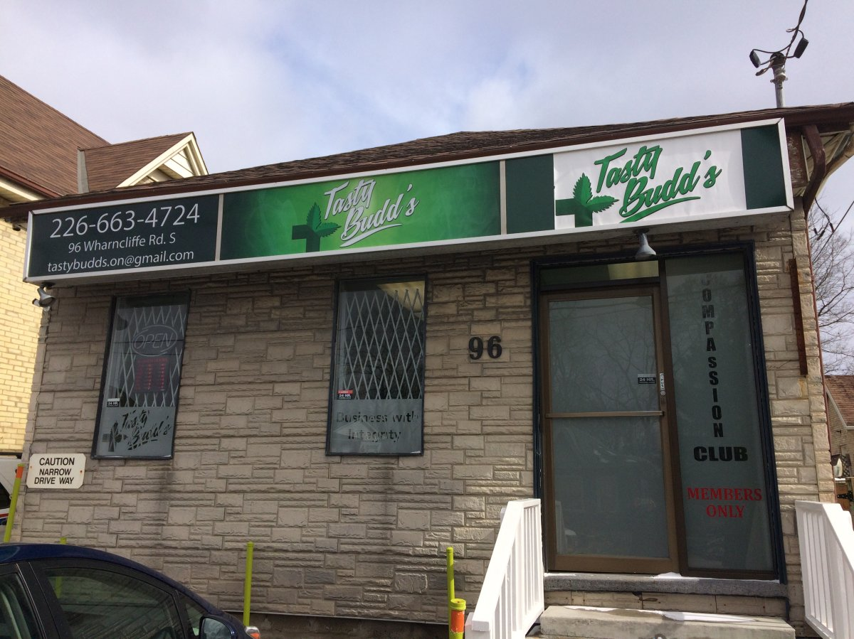 Tasty Budd's, one of five illegal dispensaries targeted by police on Thursday.