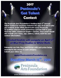 Continue reading: Peninsula Arts Foundation Music Talent Competition
