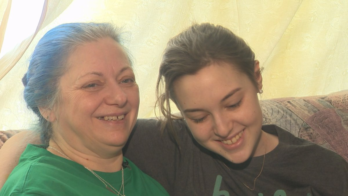 Becca Schofield, right, is pictured with her mom Anne. Schofield told Global News on Thursday, March 30 that she will be stepping out of the spotlight to spend time with her family.
