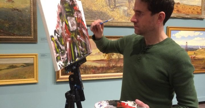 Blind Calgary Artist Brushes Up On A Real Life Murder Mystery Calgary Globalnews Ca