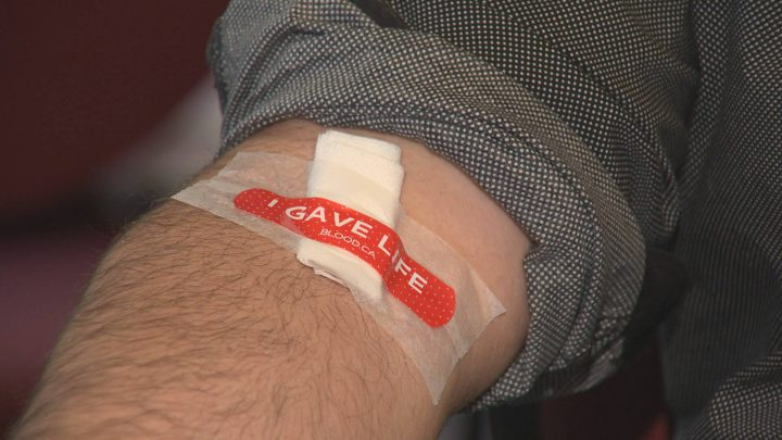 Canadian Blood Services donation bandaid.