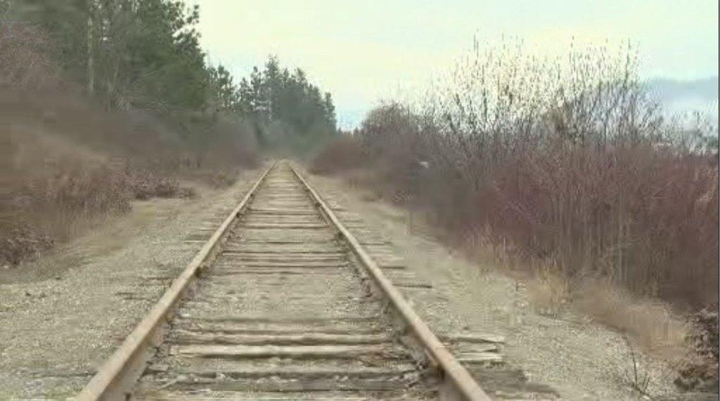CN Rail train tracks.