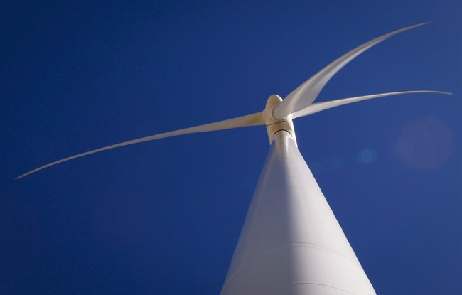 A wind turbine is shown in a file photo.