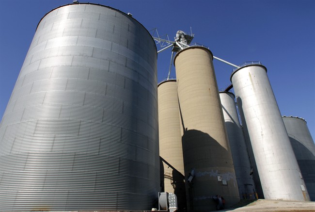 Grain elevators are seen in this file photo.The Competition Bureau is challenging the acquisition of