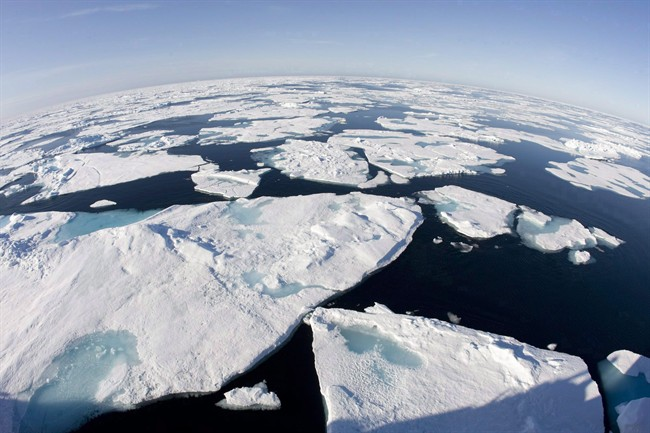 Arctic sea ice is at a record low for the third straight year, according to measurements from the U.S.-based National Snow and Ice Data Center.