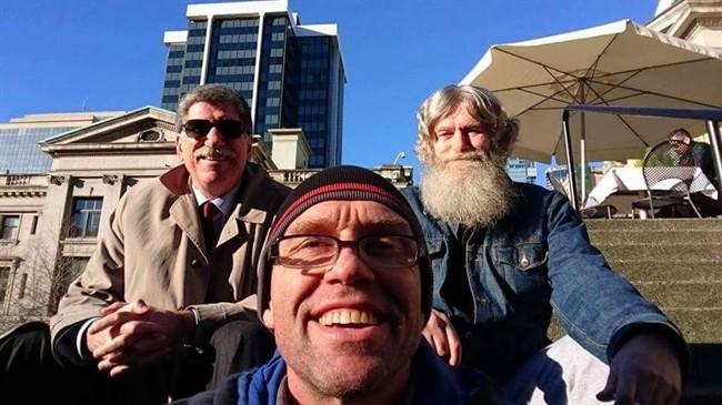 Lawyer Peter Golden, left to right, Daniel Van Heest and Len Van Heest are seen in this undated handout photo. 59-year-old Len Van Heest was deported to the Netherlands this week despite living in Canada since he was eight months old.
