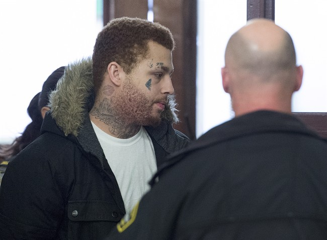 Owen Gibson-Skeir, Nova Scotia's first convicted human trafficker, heads from provincial court in Halifax on Friday, March 31, 2017. Gibson-Skeir was sentenced to seven years.