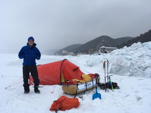 Dr. Bill Hanlon at Lake Baikal in Siberia.